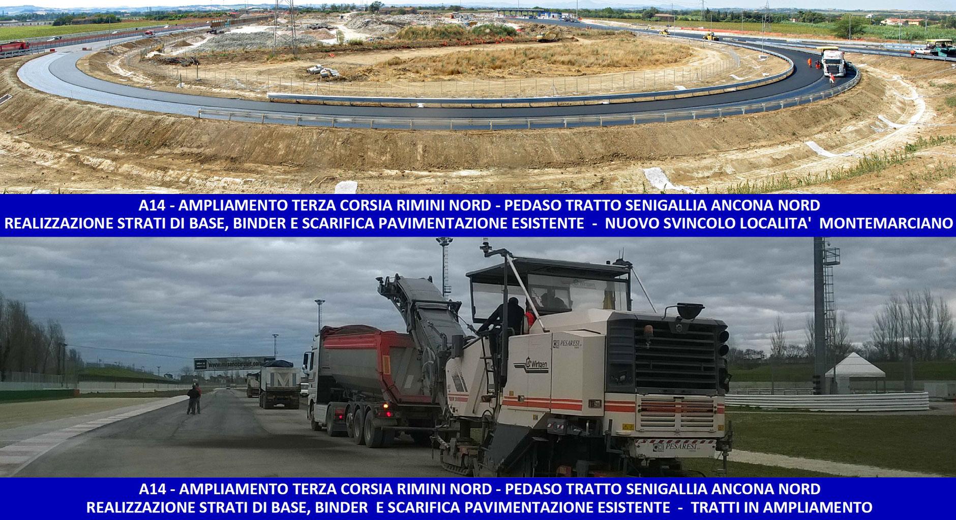 la fornitura e posa in opera dei conglomerati bituminosi del nuovo svincolo autostradale
