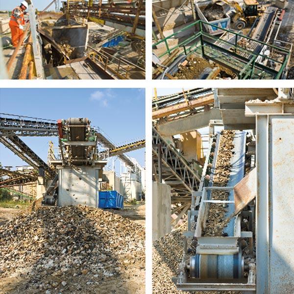 Impianto di recupero materiali da costruzione e demolizione