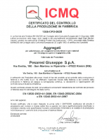 Certificato CE Aggregati ICMQ 2010