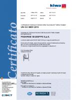 Certificato ISO 39001 KIWA CERMET del 2017-2020