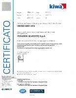 Certificato ISO 39001 KIWA CERMET del 2019-2020