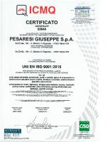 Certificato ISO 9001 Attività d'Impresa ICMQ 2018-2021