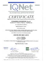 Certificato ISO 9001 Attività d'Impresa IQNet 2018-2021