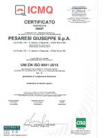 Certificato ISO 9001 CGB ICMQ 2018-2021