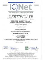 Certificato ISO 9001 CGB IQNet 2018-2021