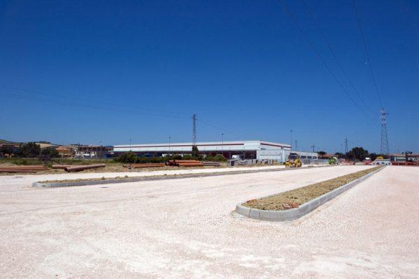 Documentazione fotografica realizzazione marciapiedi Zona Artigianale Sant'Angelo in Lizzola      ( PU )