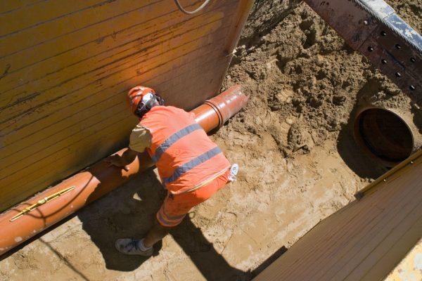 Documentazione fotografica scavi rete fognaria ( zona art. provincia PU )