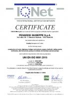 Certificato ISO 9001 Attività d'Impresa IQNet 2021-2024 n. IT-24646