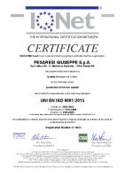 Certificato ISO 9001 Prod. CGB IQNet 2021-2024 n. IT-16675