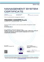 Certificato SA 8000 DNV 2020-2023
