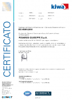 Certificato ISO 45001 Kiwa 2020-2023